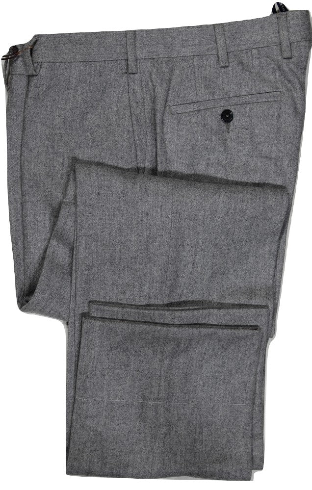 Vigano – Light Gray Heavy Wool Flannel Pants