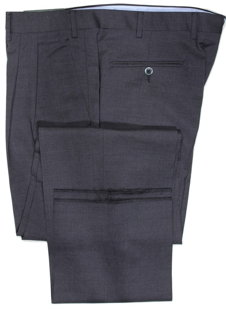Covo by Vigano – Charcoal Four Season Wool Pants w/Pleat