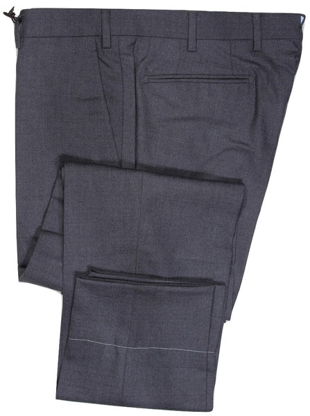 Vigano – Gray Hopsack Wool Pants