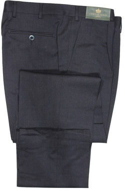 Covo by Vigano – Dark Charcoal Four Season Wool Pants w/Pleat