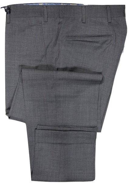 Vigano – Gray Four Season Wool-Blend Pants