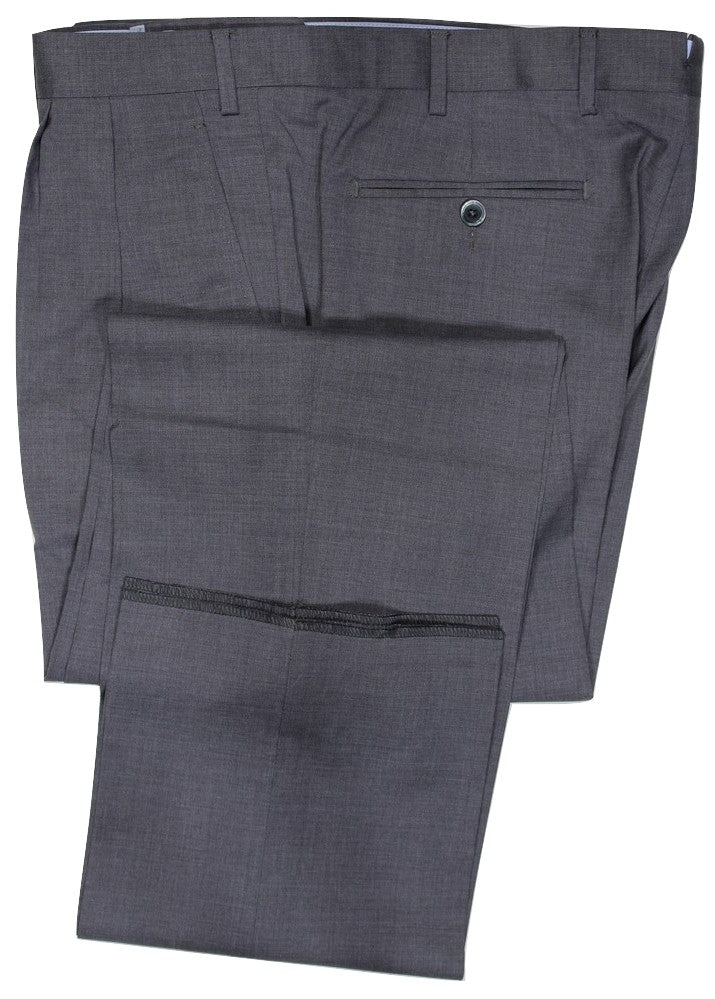 Covo by Vigano – Gray Four Season Wool Pants w/Pleat