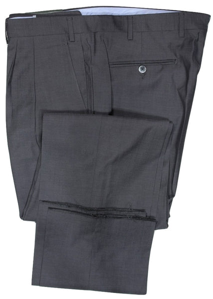 Covo by Vigano – Dark Gray Four Season Wool Pants w/Pleat