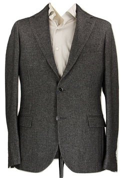 Royal Hem - Charcoal Wool Fleece Unstructured Blazer