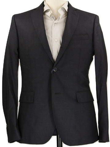Royal Hem - Gray 3-Roll-2 Wool Blazer - PEURIST