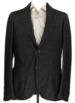 Royal Hem - Black & Gray Soft Wool/Cotton Blazer