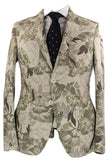 Riscontro - Tan Tropical Camo Print Cotton Blazer - PEURIST