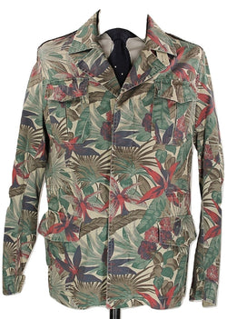 Riscontro - Tropical Camo Safari Jacket - PEURIST