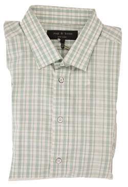 Rag & Bone - Light Green Plaid Buttondown Shirt - PEURIST