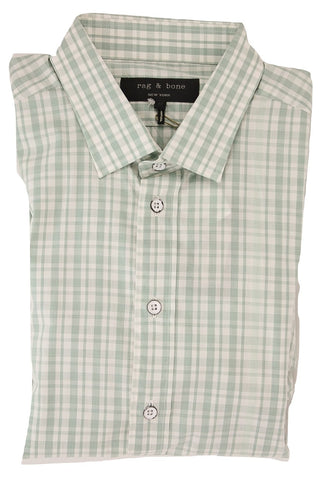 Rag & Bone - Light Green Plaid Buttondown Shirt