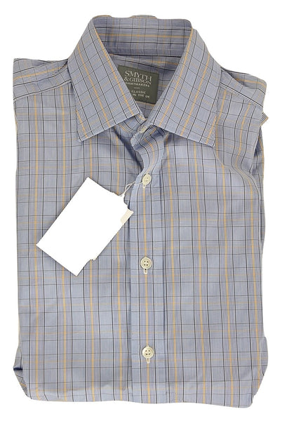 Smyth & Gibson - Blue, Navy & Yellow Plaid Shirt - PEURIST