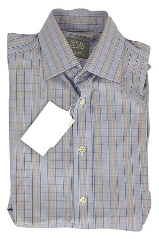 Smyth & Gibson - Blue, Navy & Yellow Plaid Shirt