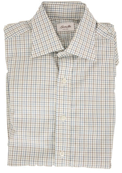 Hamilton - Brown, Blue & Beige Plaid Shirt - PEURIST