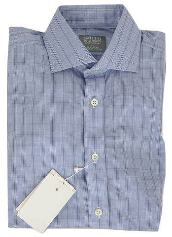 Smyth & Gibson - Blue, Navy & Gray Plaid Shirt
