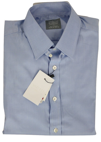 Smyth & Gibson - Blue Oxford Shirt w/Tab Collar - PEURIST