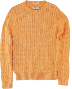 Gant Rugger - Orange Cableknit Sweater - PEURIST
