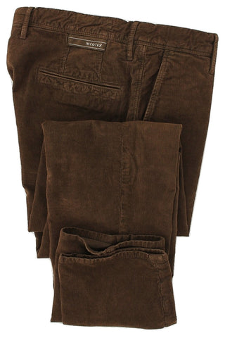 Incotex - Brown Corduroy Casual Pants - PEURIST