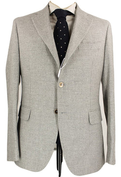Fugato - Light Gray Wool Flannel Suit