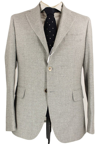 Fugato - Light Gray Wool Flannel Suit - PEURIST