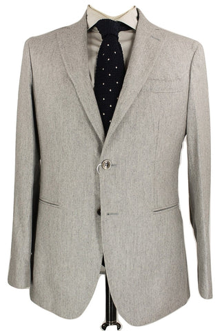 Fugato - Light Gray Flecked Wool Flannel Suit