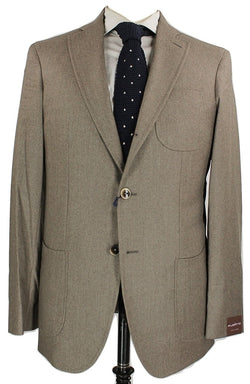 Fugato - Light Brown Wool Flannel Suit