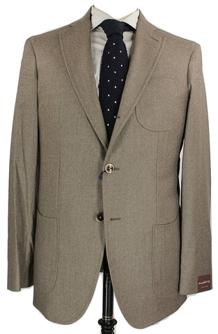 Fugato - Light Brown Wool Flannel Suit - PEURIST