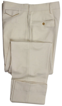 Equipage - Cream Super 120s Light Flannel Wool Pants