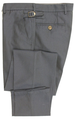 Equipage - Navy Cotton/Wool Blend Dress Pants - PEURIST