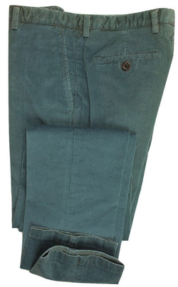 Equipage - Faded Teal Fine-Wale Corduroy Pants - PEURIST