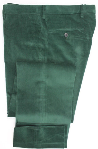 Equipage - Green Medium-Wale Corduroy Pants - PEURIST