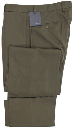 Incotex - Olive Green Four-Season Wool Pants - PEURIST