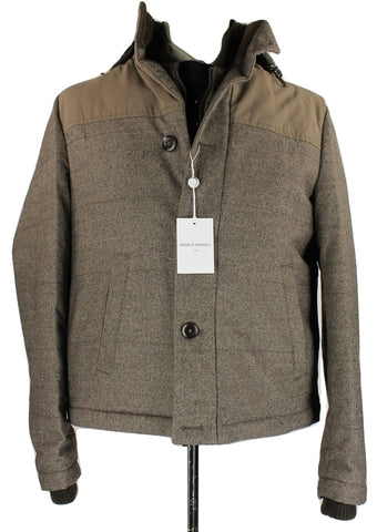 Angelo Nardelli - Brown Wool/Cotton Jacket - PEURIST