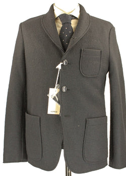 Aspesi - Navy Boiled Wool Coat