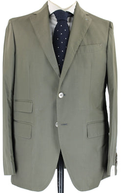 De Petrillo - Olive Cotton Suit - PEURIST