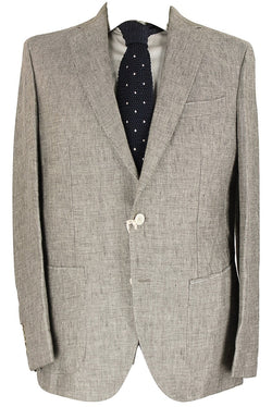 Gaiola - Brown Speckled Linen Blazer - PEURIST