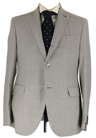 Fugato - Black & Gray Mini-Houndstooth Wool Suit