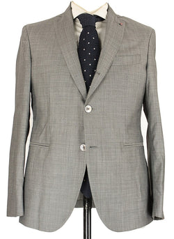 Fugato - Black & Gray Birdseye Wool Suit - PEURIST