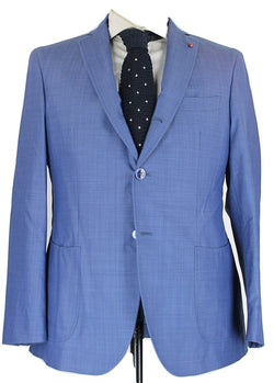 Fugato - Blue Lightweight Wool Suit - PEURIST