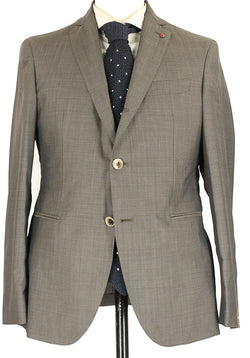 Fugato - Brown & Gray Birdseye Lightweight Wool Suit