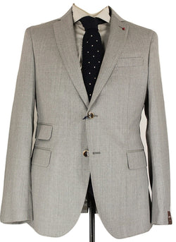 Fugato - Light Gray Four Season Wool Suit