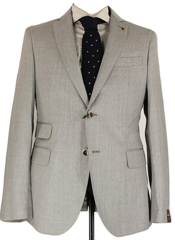 Fugato - Light Gray Four Season Wool Suit - PEURIST