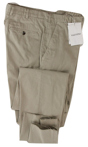 Valentino - Light Beige Cotton Twill Pants
