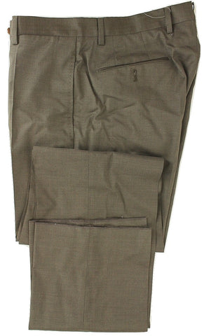 Incotex - Brown Lightweight Wool Pants - PEURIST