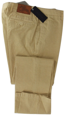 Marco Zanini - Faded Yellow Cotton Chinos
