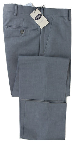 Equipage - Faded Blue Cotton/Wool Blend Pants - PEURIST