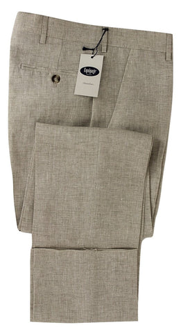 Equipage - Light Brown Linen Pants - PEURIST