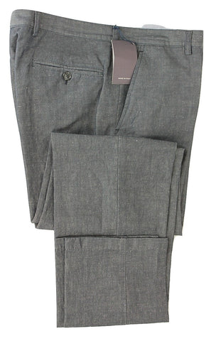 Equipage - Navy Chambray Cotton/Linen Pants - PEURIST