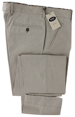 Equipage - Light Gray Pinstripe Cotton Pants - PEURIST