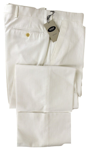 Equipage - White Cotton Ribbed Pants - PEURIST