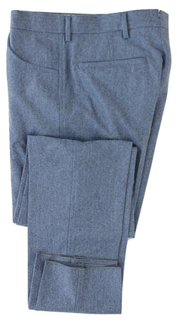 Equipage - Light Blue Wool Flannel Pants - PEURIST